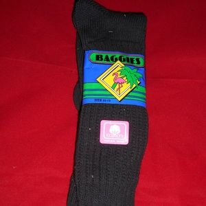 1 Pair Medium Retro 95% Cotton Baggies Socks 10-13
